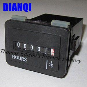 SYS-3 Quartz Hour meter electronic full sealed counter for Motor on Engineer and Machinery 0-99999.9 hours