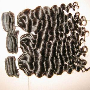 새로운 스타일의 패션 이탈리아어 곱슬 처녀 말레이시아 머리 4 개 / 몫 낮은 가격 최고의 DHgate 공급 업체