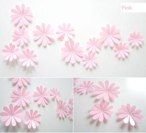12 pezzi un set Daisy Flower Wall Stickers fai da te rimovibile in PVC 3D Flower Decoration Spedizione gratuita