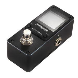 AROMA AT-07 9V Black Mini Chromatic Tuner Effect Pedal Mini singoli effetti per chitarra elettrica
