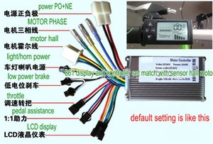 24v36v48v250w350w controller & LCD display 861 manual control panel dashboard for electric scooter bike moped mtb ATV tricycle dualmode