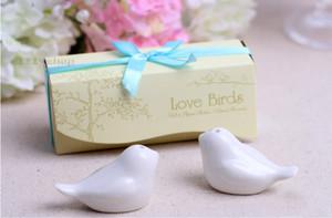 favores personalizados de la boda y regalos para los favores de la boda del pájaro del amor de invitados Sal Pimienta Shaker y regalos para huéspedes recuerdos Decoración