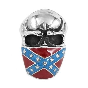 Livraison gratuite! Classic American Flag Infidel Anneau De Crâne Bijoux En Acier Inoxydable Vintage Star Motor Biker Hommes Anneau SWR0658