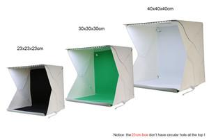 Freeshipping 40 * 40 * 40см Мини Складная фотостудия комплект, 35LED огни, черный, красный, зеленый белый Backdrips Photo Studio Box