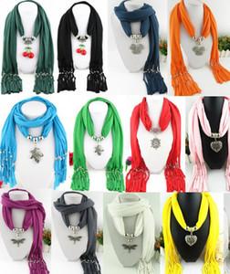 Сердце снег вишня бабочка Стрекоза форма кулон шарф ювелирные изделия с бисером смешанные 53 дизайн красочные шарфы подвески крест ожерелье