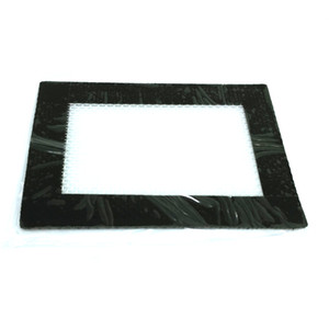 Nonstick Non Stick Oil Wax Silicone Mat Pad Silicone Rolling Baking Pastry Mat Small Rectangle 3.25''x 4.5'' Black