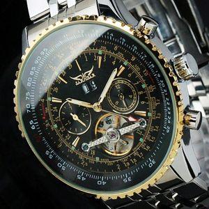 классический безель военный черный циферблат часы роскошные швейцарские мужчины автоматический день/месяц механический турбийон погружение большой нержавеющей стали часы 50 мм