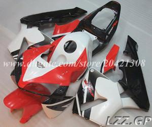 CBR600RR 05 06 Carenados de inyección + tanque Para Honda CBR600RR F5 2005 2006 CBR600 RR 2005 2006 F5 juegos de carenado # k20w8 rojo blanco negro