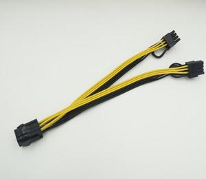 50 adet / grup 6 pin PCI Express 2 x PCI-E 8 (6 + 2) pin Anakart Grafik Ekran Kartı PCI-e GPU VGA Splitter Hub Güç Kablosu