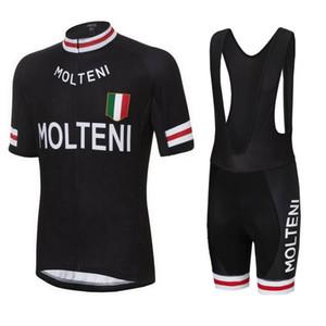 Molteni ekibi 2019 bisiklet forması seti / kiti kısa kollu bisiklet giyim mtb bisiklet kısa forması set yaz tarzı bisiklet giymek spor D1