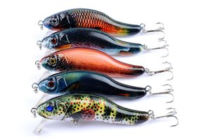 Colorful Big Game Minnow Fishing Lures Artificial Swimbait 90mm 13g Topwater Bionic Hard Fishing Bait Tackle Pesca Hooks