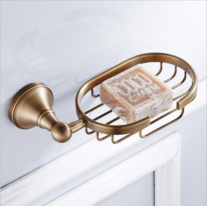 Hot Sale New European Style antique Soap Basket Holder Brass Material Soap holder Bathroom Accessories Soap Dish Holder