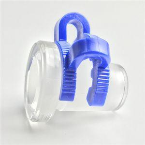 10 mm hembra a 14 mm macho 14 mm hembra a 18 mm macho Mini adaptador de cristal con plástico Keck Clip Blue Water Pipes vidrio Bong adaptador