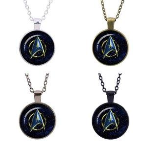 La cupola a forma di 25 millimetri Star Trek retrò argento placcato-bronzo-pistola nero-nero ciondolo gioielli collana cupola di vetro curvo