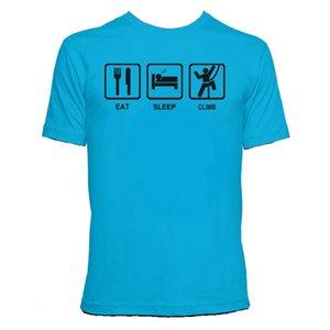 2020 Nouveau mode Eat Sleep Grimpez Femmes / Hommes Imprimer Casual T-shirts manches cou personnalisé O court t-shirt