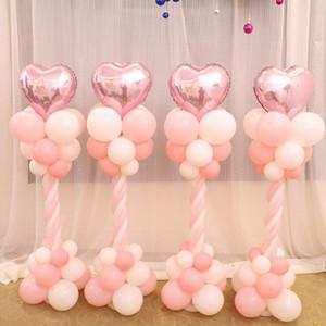 Nuevo diseño 120 cm globo columna base palo plástico postes globo globo boda cumpleaños decoración fiesta suministros jardín decoración