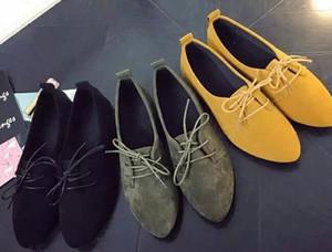 2017 nuovi arrivi primavera autunno mocassini da donna casual donne scarpe tacco piatto barca scarpe a punta