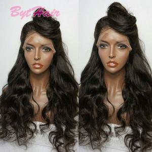 Bythair 100% non transformés de cheveux humains Full Lace Wigs Lace Front perruques avec des cheveux de bébé lâche vague perruque brésilienne de cheveux humains pour les femmes noires