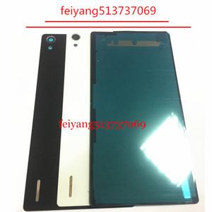 Una cubierta trasera de batería de calidad para la carcasa de Huawei Ascend P7 con adhesivo 3M + lente de cámara