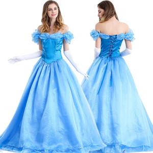 Kukucos Film Abbildung New Film Sandy Prinzessin Cinderella Kleid Cosplay Kostüm Erwachsene Halloween Party Kleid