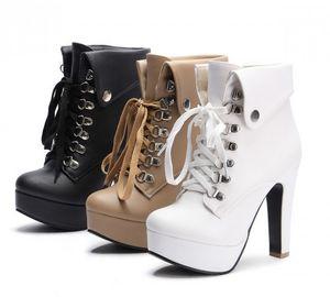 grossiste livraison gratuite prix usine vendeur chaud cheville femmes talon haut plateforme Martin femmes dame boot