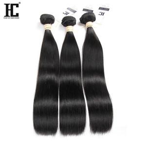 HC Capelli 3 pacchi Unproceesed malesi vergini dei capelli diritti economici malesi dei capelli umani del tessuto Bundles Bundles Diritto Natural Color