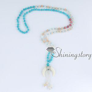108 mala do grânulo mala mala pulseira grânulos de oração budista indiano japa malas oração pulseira colar crescente contas de meditação cantando