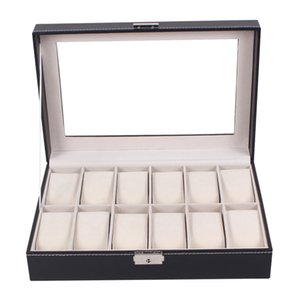 Professional 12 Grid Slots Jewelry Watches Display Storage Box Case Inside Container Organizer Box Holder caixa relogio