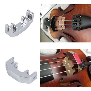 Mini Violin Practice Mute Metal Silver Fiddle Silent Silencer Wholesale free shipping