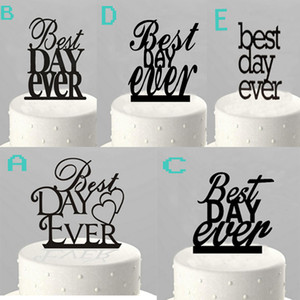 Personalized Wedding Cake strip Best Day Ever Black the Acrylic Cake Topper Bilayer structure