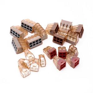 80pcs Push Wire Connector para cajas de conexiones PCT-602 / 773-602 / 773-604 / 773-606 / 773-608 group home tuercas de cable kit de surtido reutilizable
