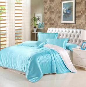 Großhandel- Maulbeereseide Bettwäschesätze Duvetabdeckung bedspread Bettuch King / Queen / full size Seide Bettwäsche