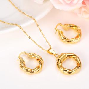 Дубай Золото Эфиопский Ожерелье Серьги Африканские Наборы Золотых Ювелирных Изделий Для Израиля Судана Арабских Женщин Ближнего Востока