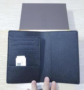 Hombres de cuero genuino pasaporte cubierta billetera mujeres lujo titular de la tarjeta de crédito hombres titular de la tarjeta de visita billetera de viaje porte carte carteira 181H