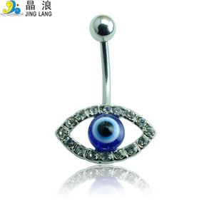 Promoção! Diy de alta qualidade moda prata aço cirúrgico branco strass olho umbigo piecing anel para mulheres body jewelry