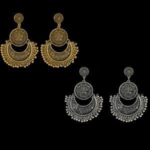 Gli orecchini lunghi di temperamento delle signore, orecchini esagerati floreali esotici della nappa degli orecchini retro di personalità alla moda comerciano trasporto libero all'ingrosso