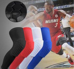 Hohe qualität männer sport sicherheit knieschützer Basketball Arm Sleeve Beinhülse Atmungs Fußball Sicherheit Ellbogenschützer Honeycomb Knieschützer ein stück