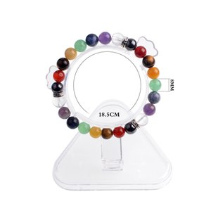 7 Chakra reiki Transshipment Natural Stone GuardianYoga Amatista Ágata Tiger Eye Green Gold Green Negro Onyx Summer Crystal Jewelry Bracelet