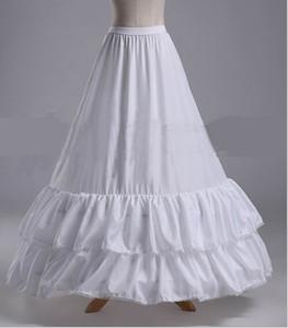 Nueva llegada enaguas blanco 2 aro 2 capas de novia largo vestido formal Underskirt Crinolina Plus Stock accesorios de boda