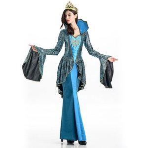 Femmes Halloween Costume égyptien Sexy Noble Reine cosplay robe serpent Motif Déguisements scène Performance Wear