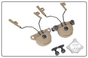Taktik kask acccessories EX Kulaklık Ve Kask Ray Adaptörü Seti GEN1 Comtac I / II kulaklıklar için kullanın GEN2 MSA kulaklıklar DE için
