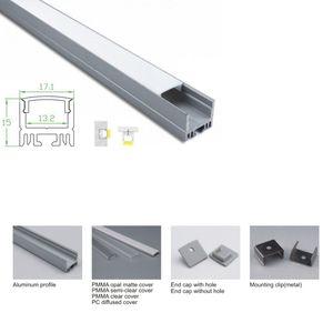 10 X 1M conjuntos / lote L-forma levou perfil de alumínio anodizado e prata levou extrusão canal para tecto ou parede recesso iluminação