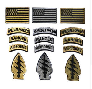 Fashion 5pc lot U.S. special forces patch Morale Patch ARMY American Flag Patches swat Tactical Embroidery Armband airsoft Badge