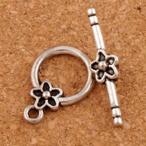 Prune fleur bracelet fermoir à bascule 100 ensembles / lot Antique Silver Jewelry Résultats Bracelets Fit L847 Résultats de bijoux Composants LZsilver