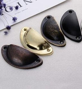 Multi colores Vintage Cabinet Perillas y Manijas Armario Puerta Gabinete Cajón Muebles Antiguo Shell Mango envío gratis