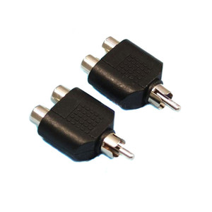 RCA AV Audio Y Splitter adaptador de enchufe 1 macho a 2 x 2 Enchufe hembra TV por cable convertidor de plomo