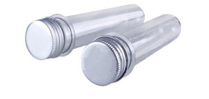 200pcs 40ml transparent mask bath salt test PET tube with aluminum cap,40cc,clear plastic cosmetic tube with pressure sensitive seal