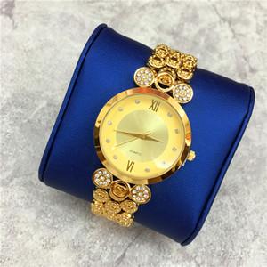 Relogio Masculino 15pcs DHL livre Mulheres relógios Top Quality Movimento Japão pulseira de aço Corrente Dourada Cor Correia Partido livre caixa holofotes