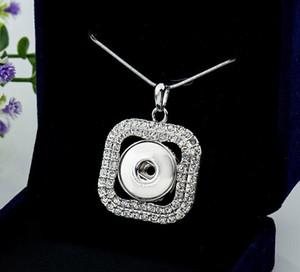 Хрустальный квадрат ювелирные изделия взаимозаменяемые 18 мм Noosa кусок имбиря Оснастки кнопки для ожерелье Vochen Оснастки ювелирные изделия кулон ожерелья