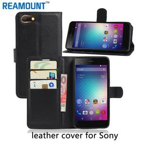 Carteira de luxo estilo de livro de cartão de crédito flip stand leather case capa para sony xperia xz com slot para cartão case capa